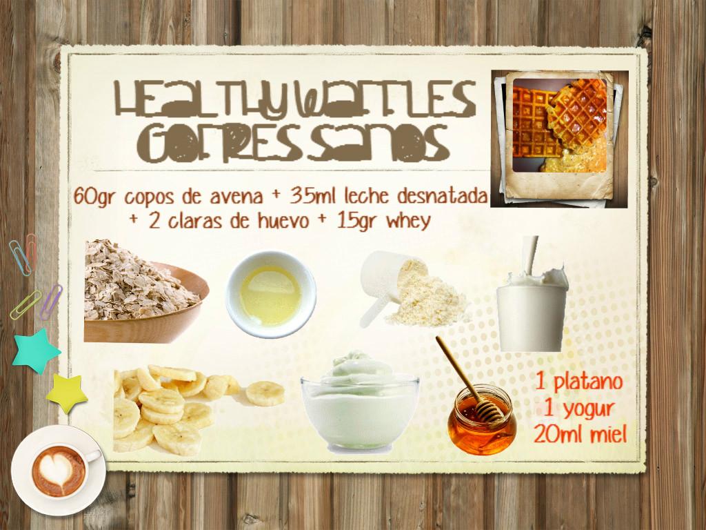 Infografia receta gofres
