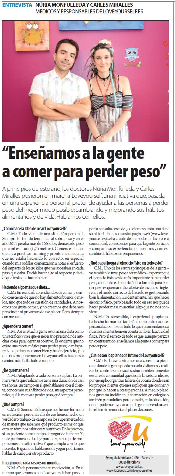 Entrevista Lavanguardia